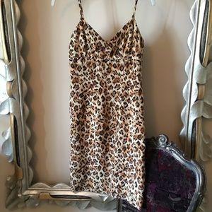 Muse Leopard print silk dress